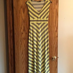 APT. 9, Maxi Dress, Yellow and Grey, Sz XS